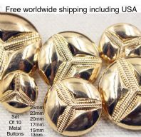 Gold Metal buttons. Gold jacket buttons, Gold dome buttons, Free worldwide shipping